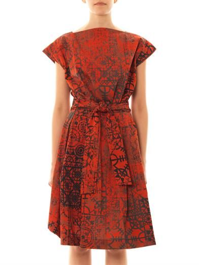 Vivienne Westwood Anglomania Moa Stave lace-print dress