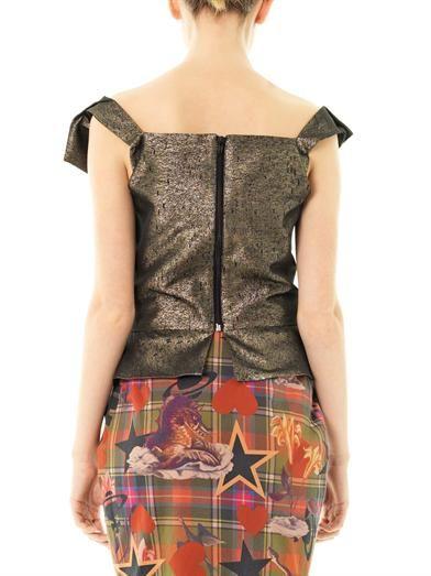 Vivienne Westwood Anglomania Apache neckline-fold blouse