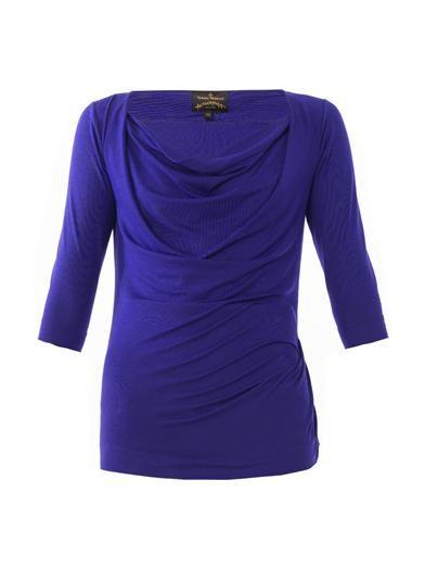 Vivienne Westwood Anglomania Dhalia cowl neck T-shirt