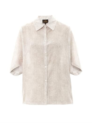 Vivienne Westwood Anglomania Hero cotton and silk-blend shirt