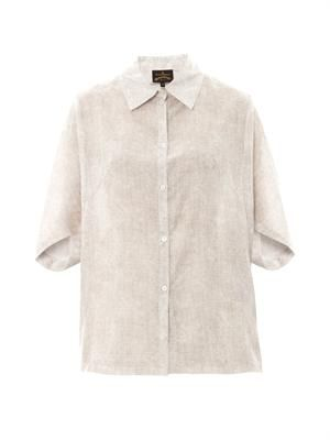 Hero cotton and silk-blend shirt