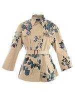 Rose print safari jacket