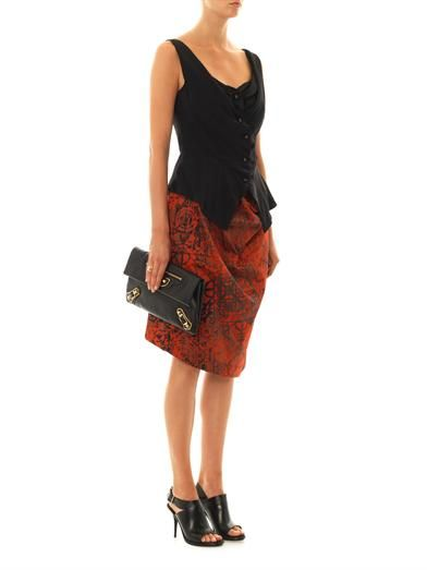 Vivienne Westwood Anglomania Survival Stave lace-print skirt