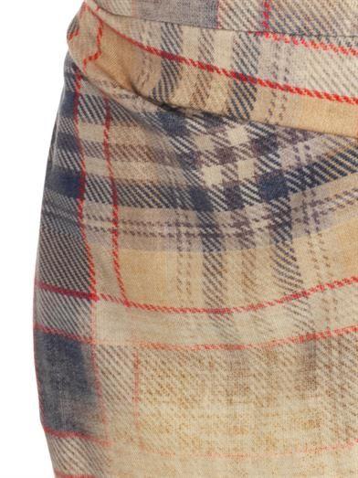 Vivienne Westwood Anglomania Isolation faded-tartan wool skirt