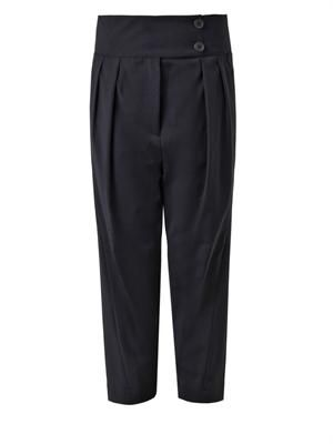 Pluto pleated-front cropped trousers