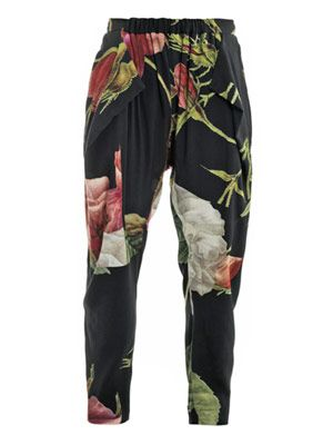 Botticelli rose-print trousers
