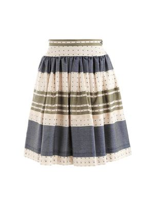 Mexican garden-print full skirt