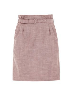 Summer stretch wool pencil skirt
