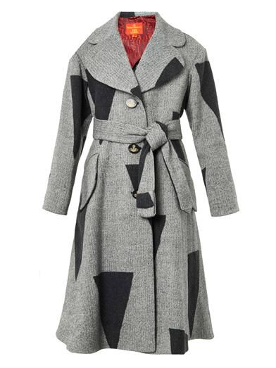 Vivienne Westwood Red Label Single-breasted patchwork wool-blend coat