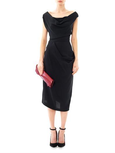 Vivienne Westwood Red Label Voile-crepe drape dress