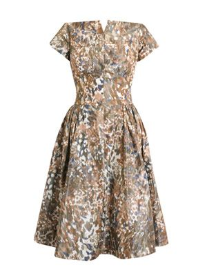 Liberty garden-print silk dress