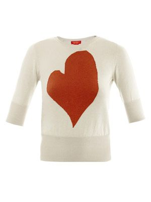 Heart intarsia-knit sweater