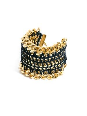 Reflection woven chain bracelet