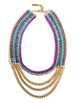 Cabo Sunset plaited necklace