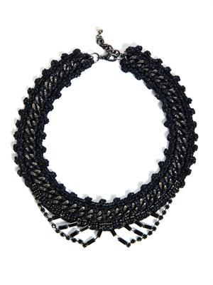 Tonight Tonight crochet edge necklace