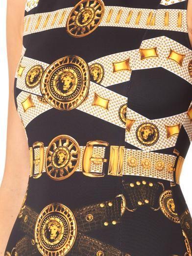 Versus Iconic belt-print scuba dress