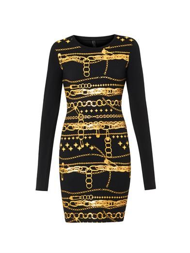 Versus Chain-print jersey dress