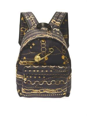 Chain-print backpack