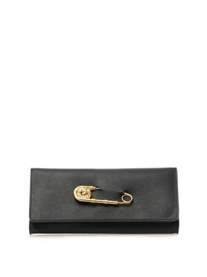 Safety Pin leather clutch
