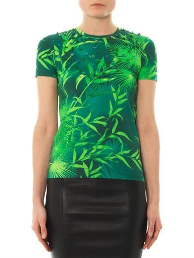 Versus Forest-print jersey T-shirt