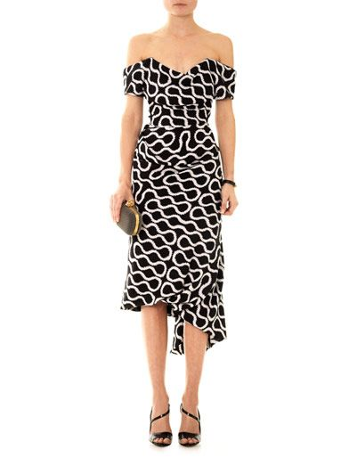 Vivienne Westwood Gold Label Exclusive Cocotte squiggle-print dress