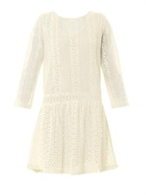 Multi-lace cotton dress