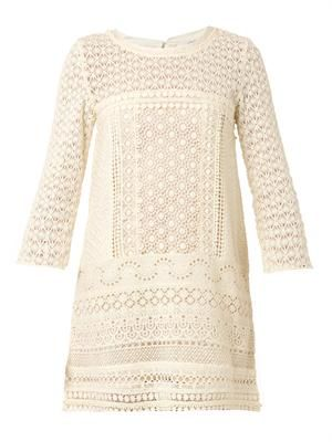 Billy guipure-lace dress