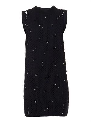 Baya embellished broderie-anglaise dress