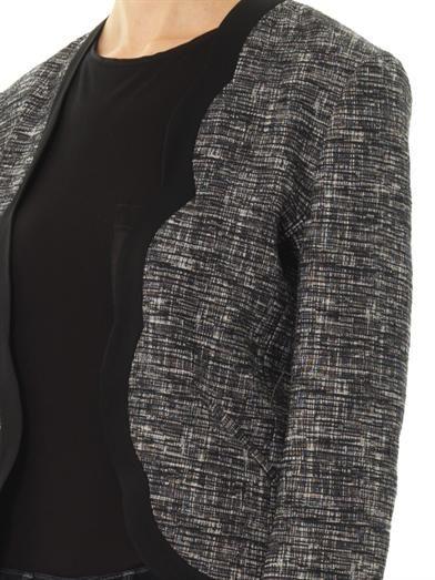 Vanessa Bruno Athé Melange tweed open jacket