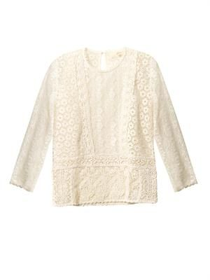 Multi-lace cotton top