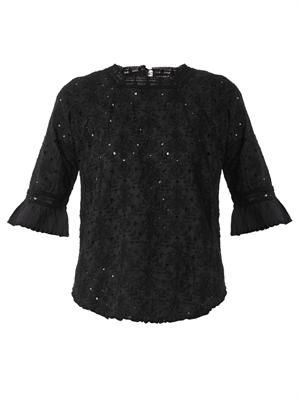 Bibiane embroidered voile top