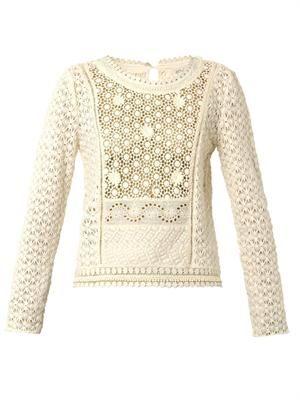 Belinda guipure-lace top