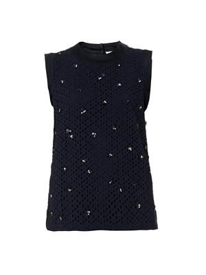 Boaz embellished broderie-anglaise top