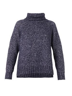 Brochet roll-neck melange-knit sweater