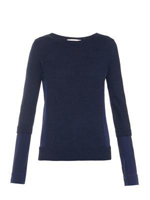 Balafre silk-panel sweater