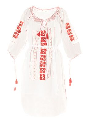 Broderie anglaise folk dress