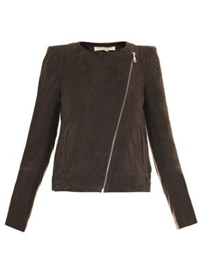 Sharp shoulder biker jacket