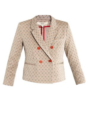 Jacquard double-breasted jacket