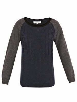 Bi colour jumper