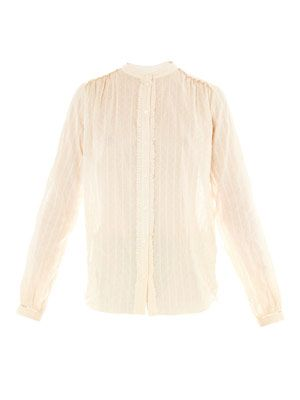 Seersucker cotton blouse