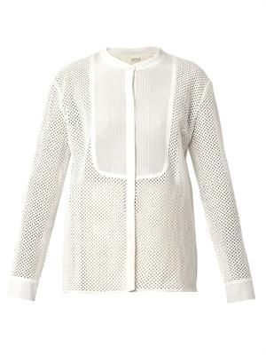 Britney broderie-anglaise shirt