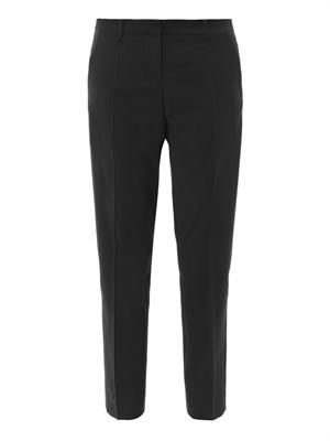 Tailored woven-front trousers