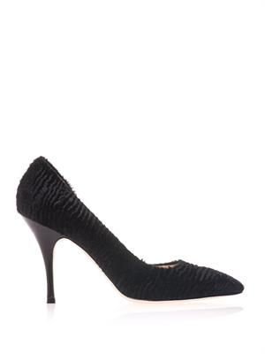 Lambskin point-toe pumps