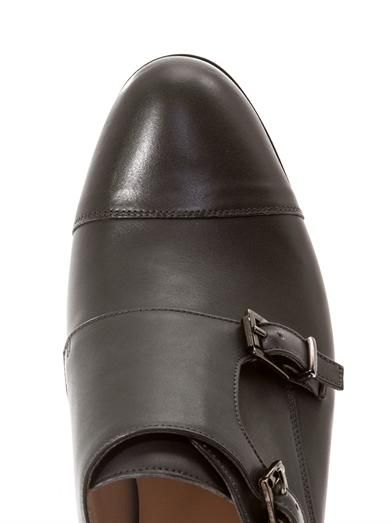 Duccio Venturi Double monk strap leather brogues
