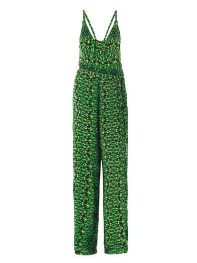 Vix Glenn Amazonia-print jersey jumpsuit
