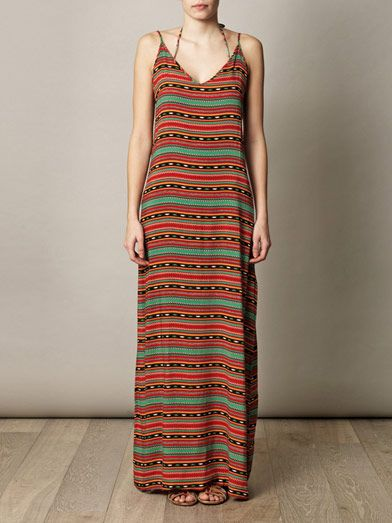 Vix Sahara tribal maxi dress