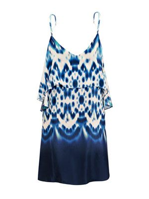 Mustique ripple tie-dye beach dress