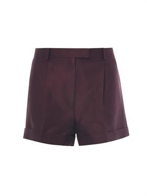Cotton and silk-blend shorts