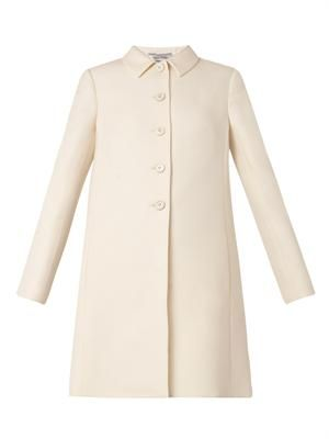 Wool and silk-blend evening coat