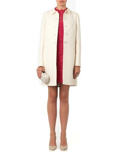 Valentino Wool and silk-blend evening coat